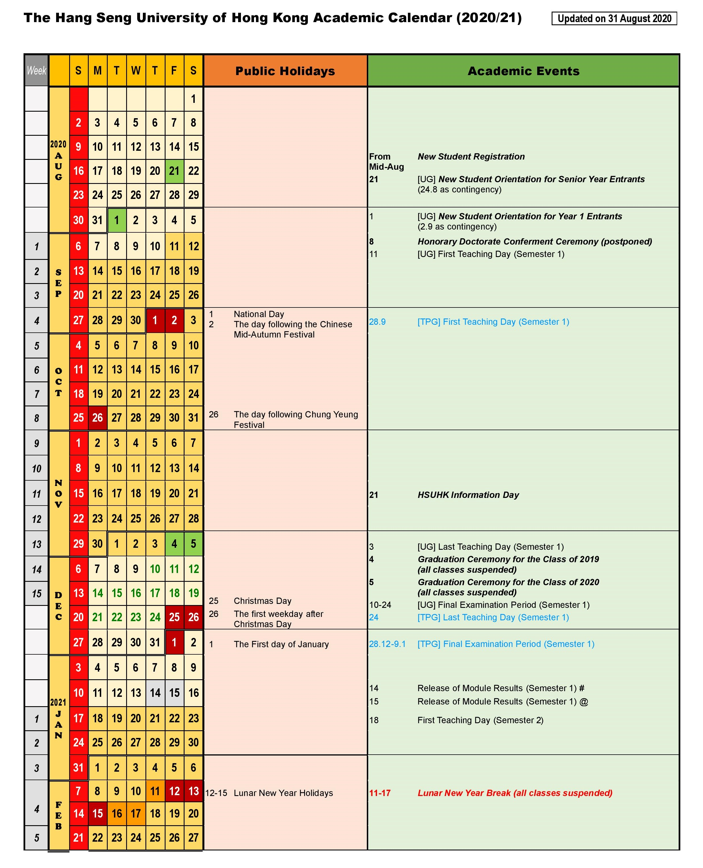 Cal Poly Academic Calendar 2022 23.Academic Calendar Hsu Calendar 2021
